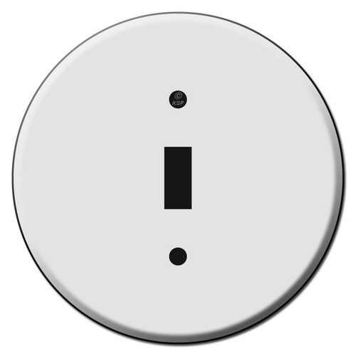 Round Toggle Light Switch Plates