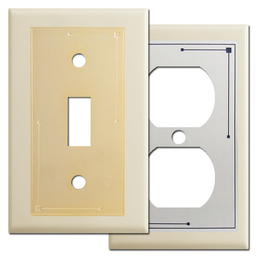 Classic Lines Decorative Ivory Wall Plates
