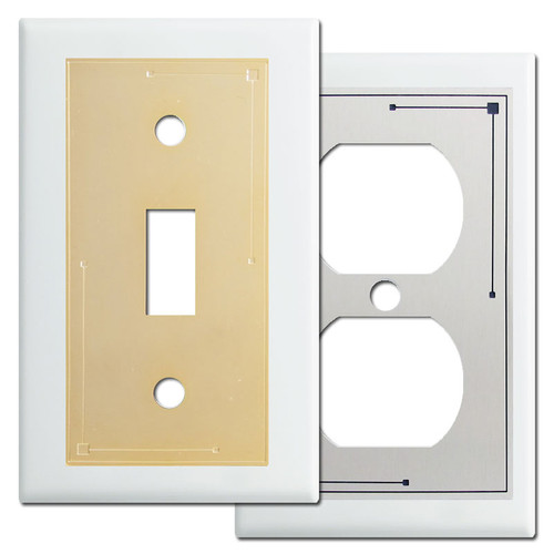 Classic Decorative White Switch Plates