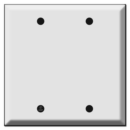 Deep Beveled Double Blank Switch Wall Plate Covers