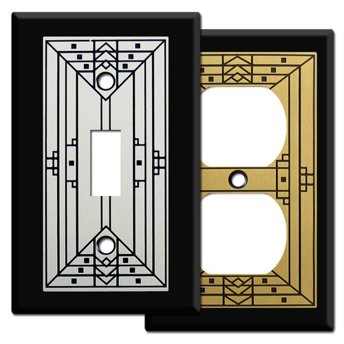 Craftsman Style Light Switch Covers in Black