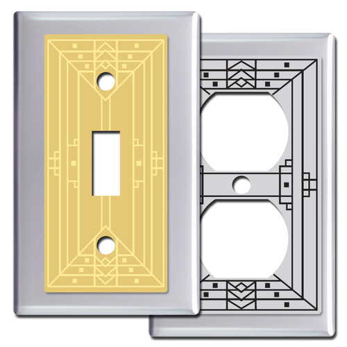 Craftsman Style Light Switch Covers in Chrome