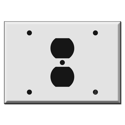 Blank - Outlet - Blank Combo Switch Plate
