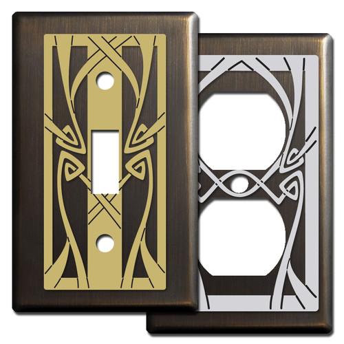 Bronze Art Nouveau Decor - Switch Plate Covers
