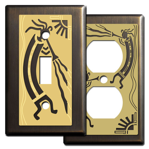Bronze Kokopelli Southwest Switch Plates