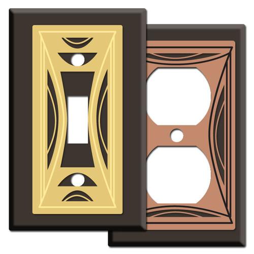 Modern Milano Design Light Switch Plates - Brown