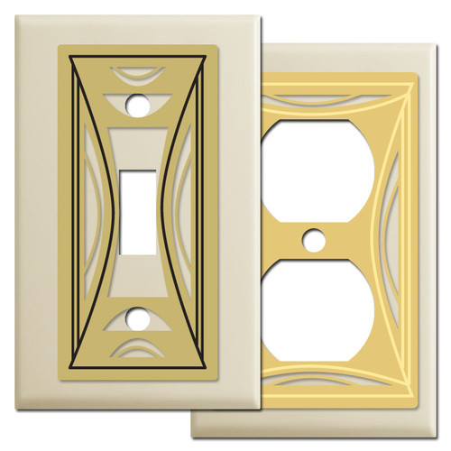 Modern Ivory Milano Switch Plate Covers