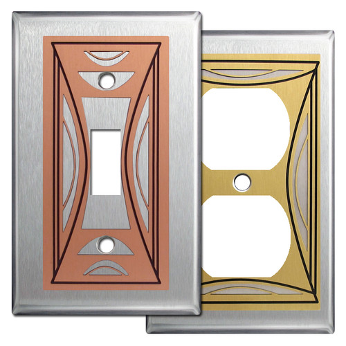 Modern Milano Stainless Steel Switch Plate Covers
