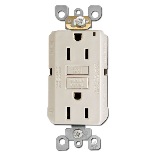 Light Almond 15A GFCI Decora Receptacle