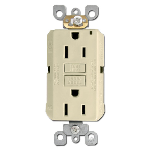 Ivory 15A GFCI Decora Outlet Receptacle
