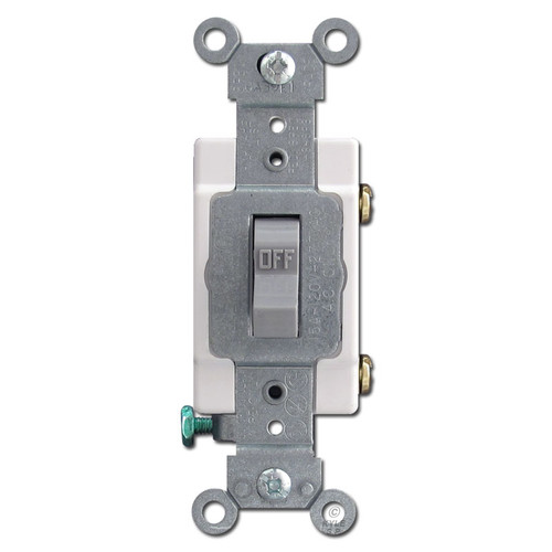 Gray Toggle Light Switch 15 Amp Leviton