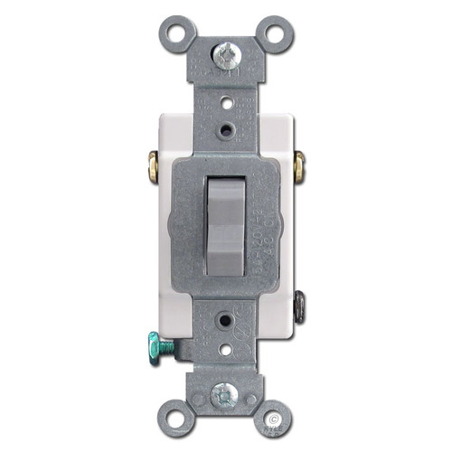Gray Leviton 3 Way Toggle Light Switch