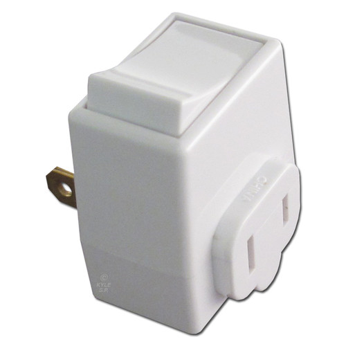 White Plug-In On-Off Switch Adapter Leviton