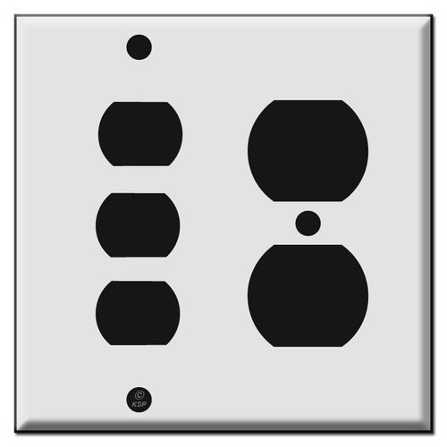 Duplex Outlet - Three Despard Wall Switch Plate Covers