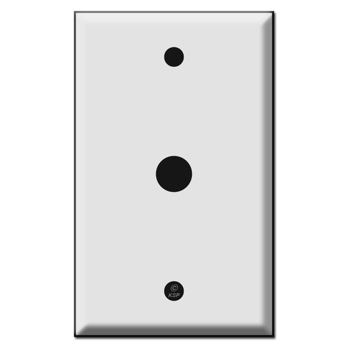 Single .5 Inch Round Opening Control Switch Plates