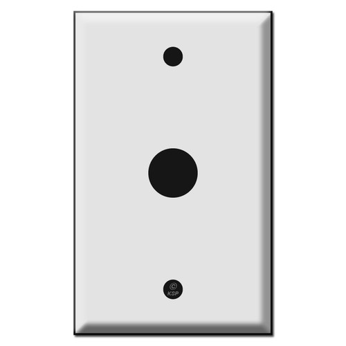 Single .69 Inch Round Opening Control Device Switch Plates