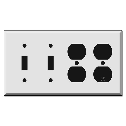 2 Toggle 2 Duplex Outlet Combo Light Switch Wall Plates