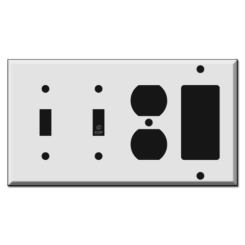 2 Toggle 1 Outlet 1 GFI Decora Rocker Switch Plate