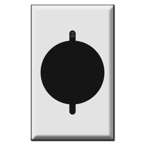 "1 Gang 2.125"" Power Outlet Cover Plate for Range or Dryer"