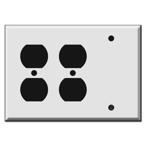 Two Outlets and Blank Combo Switch Plates