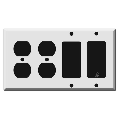 Double Outlet - Double Rocker Switch Plates