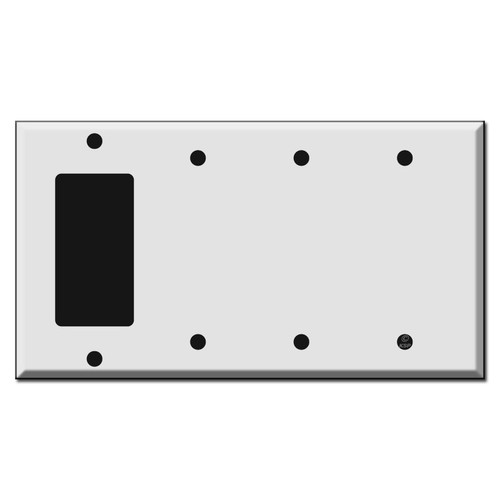1GFCI Decora Rocker - 3 Blank Switch Plate Covers