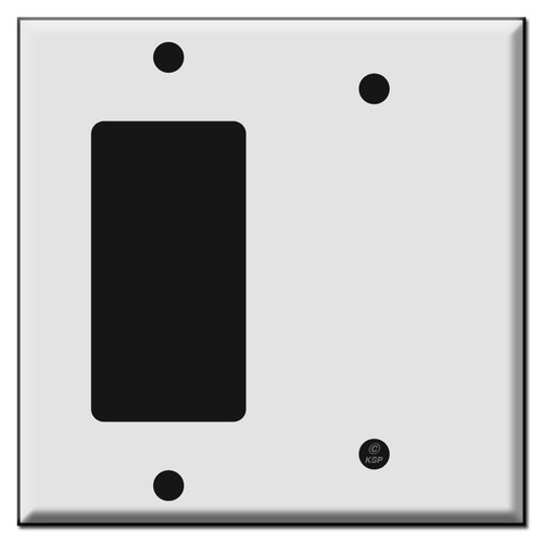 1 Decora Rocker and 1 Blank Combo Wall Switch Plates