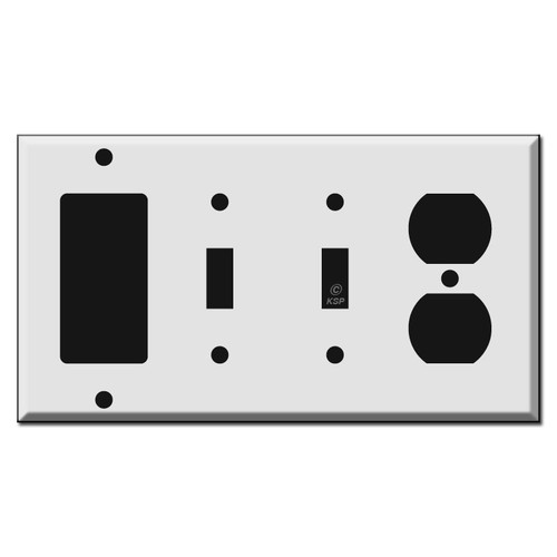 1 GFI Decora Rocker, 2 Toggle, 1 Outlet Combo Switch Plates