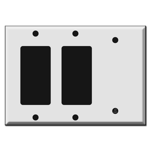 2 GFCI Decora Rocker & 1 Blank Combination Switch Plates