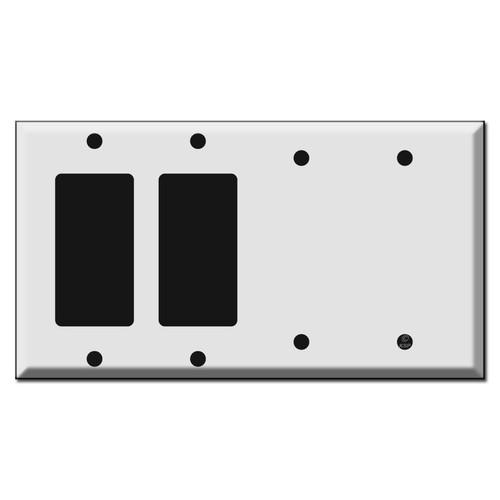 2 GFCI Decora Rocker and 2 Blank Switch Plates