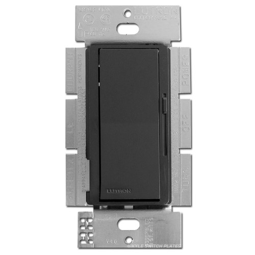 Black 1000 W 3 Way Rocker Switches with Preset Light Dimmer