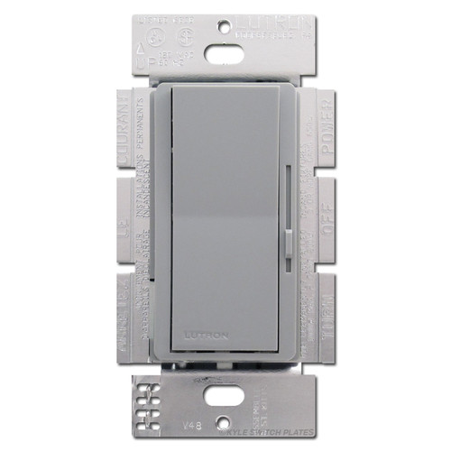 Gray 3-Way Rocker Light Switches - 1000 W Preset Dimmer Lever