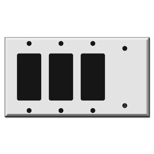 3 Decora Rocker - 1 Blank Switch Plate Covers