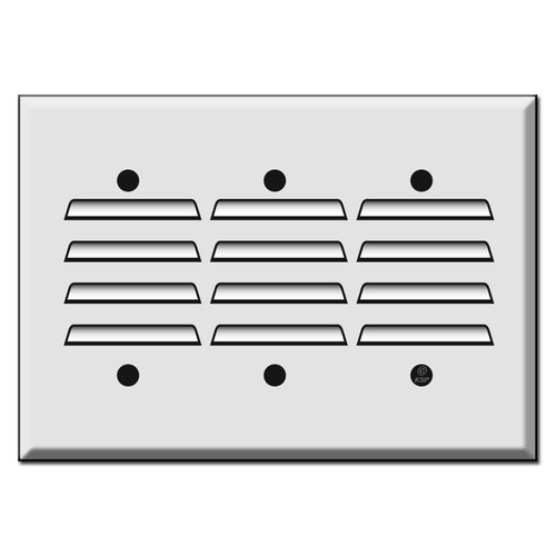 Three Gang Vertical Louvered Wall Switch Plates