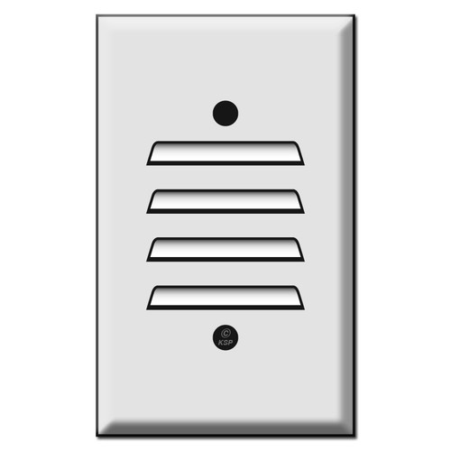 One Vertical Louvered Switch Cover Plates