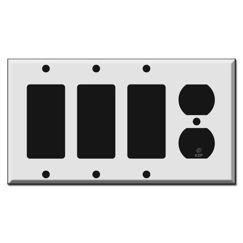 3 GFCI Decora Rocker 1 Duplex Outlet Switch Plate Covers