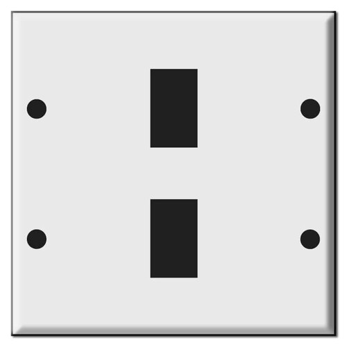Original Style GE 2 Gang Wall Switch Plate for 2 Low Voltage Devices