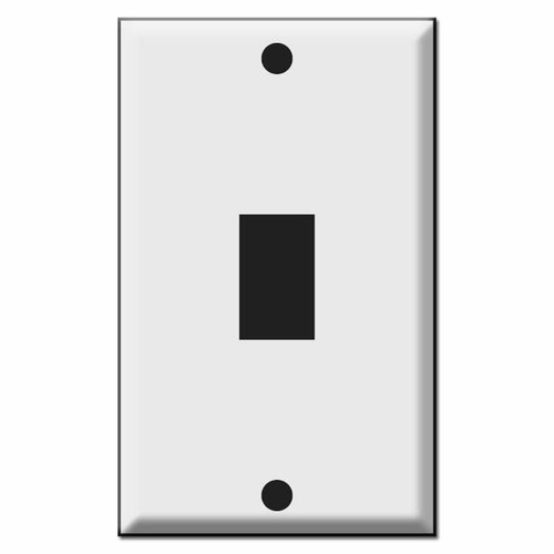 GE Original Style Vertical One Low Voltage Device Wall Switch Plates