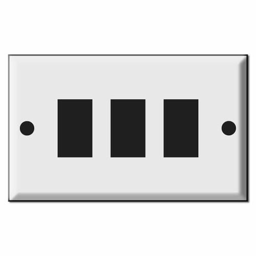 GE Original Style Three Low Voltage Device Wall Light Switch Plates