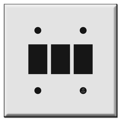Low Voltage Bracket Mount Wall Switch Plates for Three GE Switches