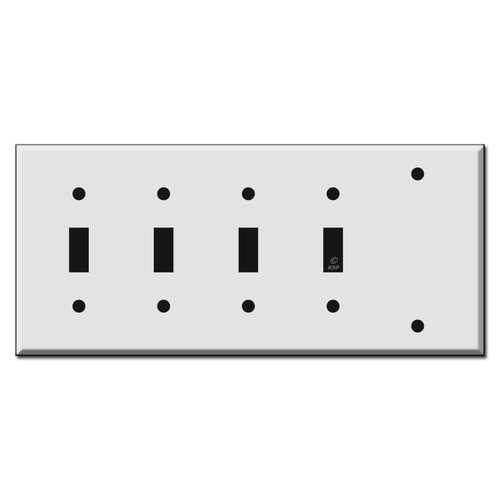 4 Toggle 1 Blank Combo Wall Switch Plate Covers