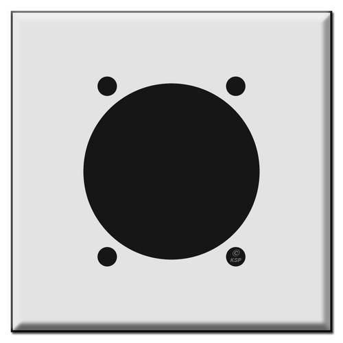 """30 50 or 60 High Amp Square Outlet Cover Wall Plate for 2.48"""" Diameter"""