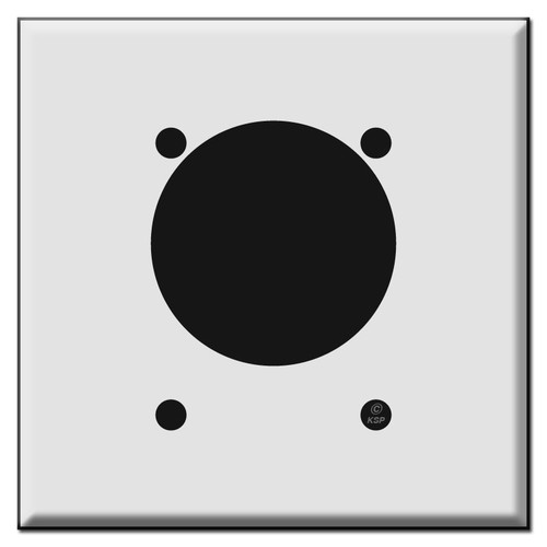 "30A or 50A Offset 2.165"" Receptacle Square Outlet Cover Switch Plate"