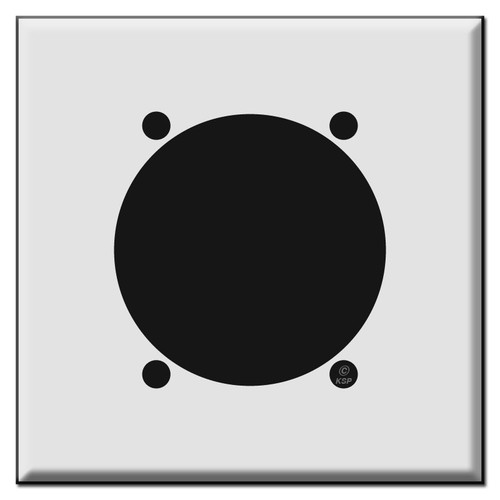 30A 50A or 60A Power Outlet Cover Plate for 2.625 Inch Wall Socket