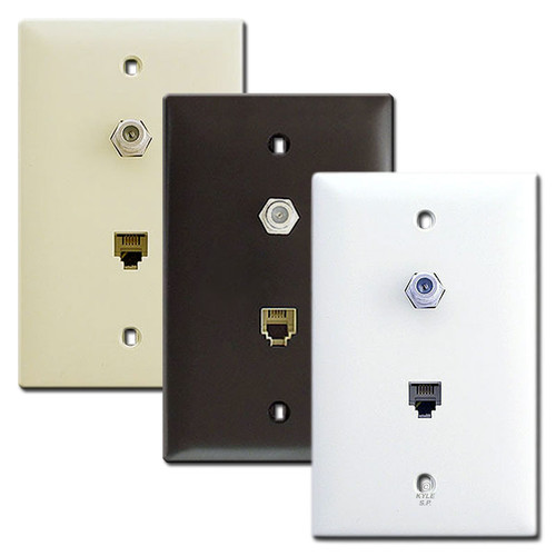 Pass & Seymour Phone & Coaxial Cable TV Jacks