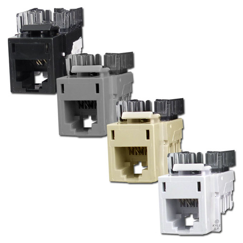 USOC Telephone Jacks for Hubbell Modular Frame - HXJU