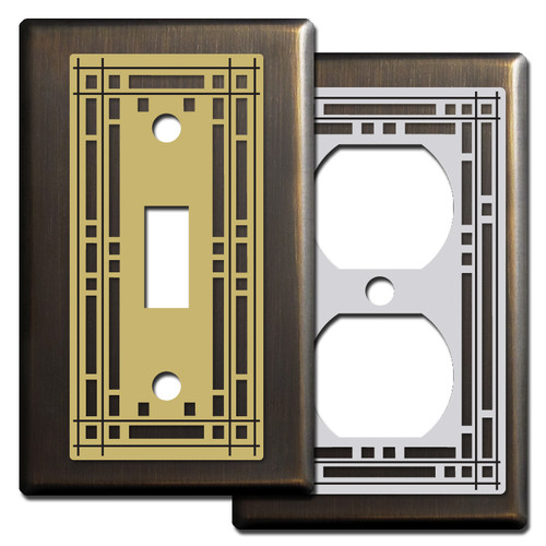 Bronze Mission Period Switch Plate Covers