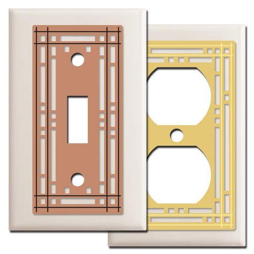 Almond Mission Design Switch Plates