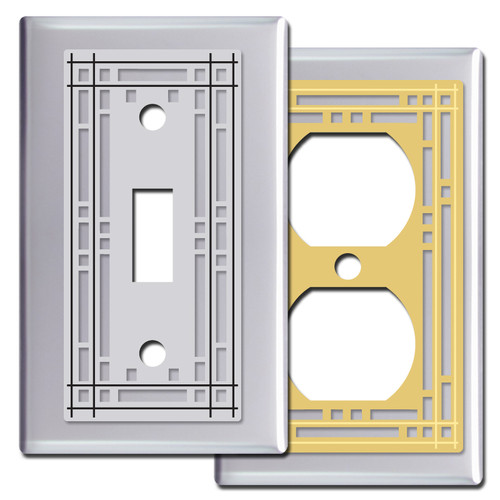 Chrome Switch Plates with Mission Period Design