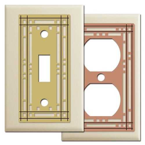 Decorative Ivory Mission Theme Switch Plates